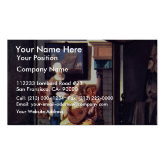 The Love Letter,  By Johannes Vermeer Business Card Templates