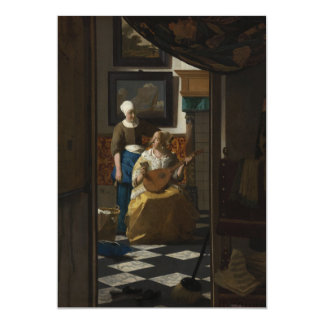 The Love Letter by Johannes Vermeer Card