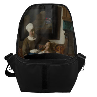 The Love Letter by Johannes Vermeer Courier Bag