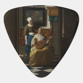 The Love Letter by Johannes Vermeer Guitar Pick