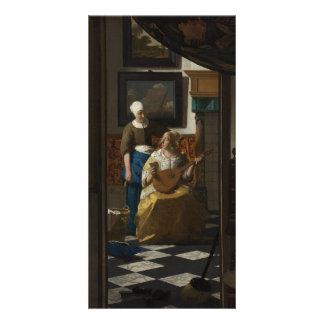 The Love Letter by Johannes Vermeer Photo Greeting Card