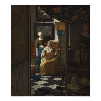 The Love Letter by Johannes Vermeer Art Photo