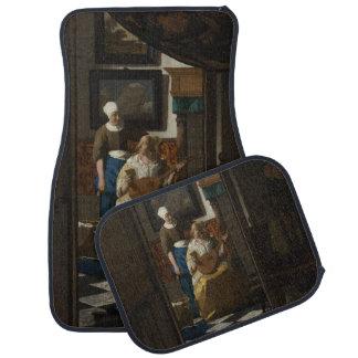 The Love Letter by Johannes Vermeer Floor Mat
