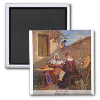 The Love Letter By Spitzweg Carl Refrigerator Magnets