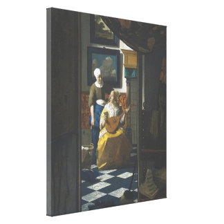 The Love Letter by Vermeer Canvas Print