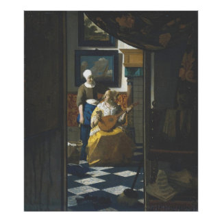 The Love Letter by Vermeer Poster