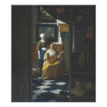 The Love Letter by Vermeer Print