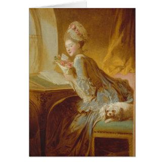 The Love Letter - Jean-Honoré Fragonard Card