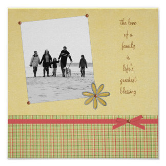 The Love of A Family Scrapbook Print