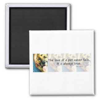 The Love of a Pet Refrigerator Magnet
