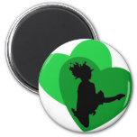 The Love of Irish Dance 2 Inch Round Magnet