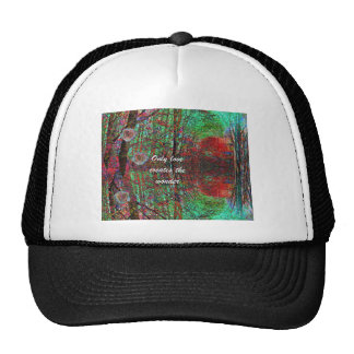 The love of nature creates a wonderful world trucker hat