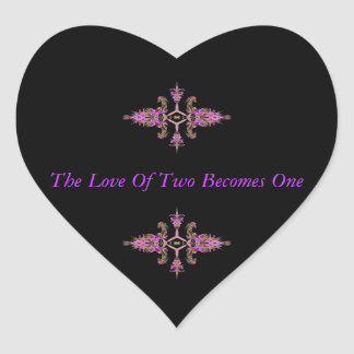 The Love of Two Becomes One Stickers
