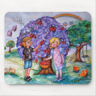 The Love Pickers Illustration Drawing Mouse Pads