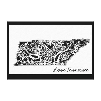 """The """"Love Tennessee"""" Canvas Print"""
