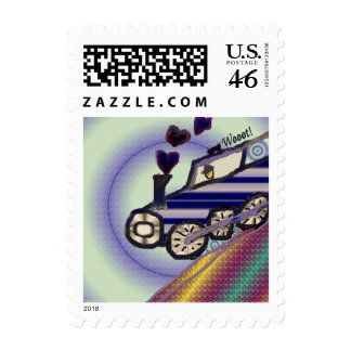 The Love Train Postage Stamp