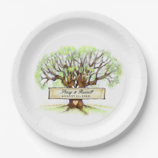 The Love Tree Wedding Customized Paper Plates