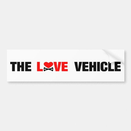 The Love Vehicle White Bumper Sticker