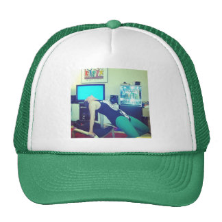 The Lovebirds - LWhite Flash Dance Trucker Hat