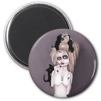 the Lovecats 2 Inch Round Magnet