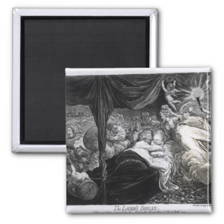 The Lover's Dream, 1795 2 Inch Square Magnet