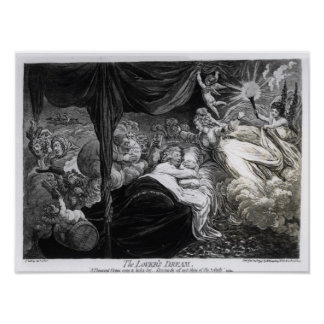 The Lover's Dream, 1795 Poster