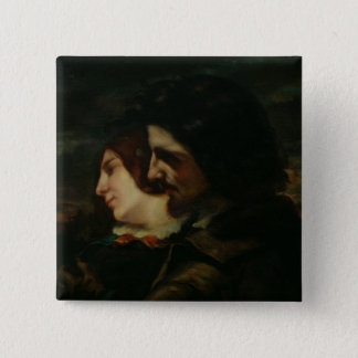The Lovers in the Countryside, after 1844 Pinback Button