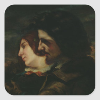 The Lovers in the Countryside, after 1844 Square Sticker