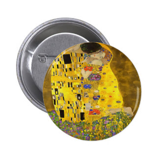 The Lovers Kiss After Klimt Button