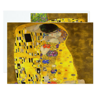 The Lovers Kiss After Klimt Card