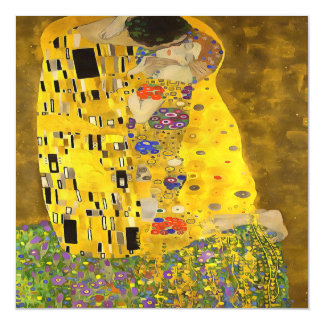The Lovers Kiss After Klimt Magnetic Card