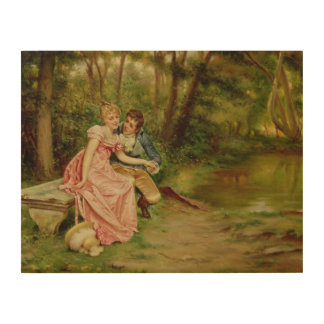 The Lovers (oil on canvas) Wood Canvases