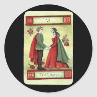 """""""The Lovers"""" tarot card Classic Round Sticker"""