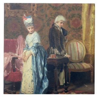The Lovers' Tiff, 1872 (oil on panel) Ceramic Tile