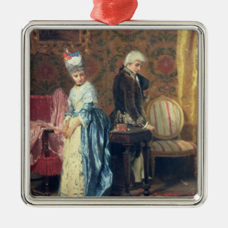 The Lovers' Tiff, 1872 (oil on panel) Metal Ornament