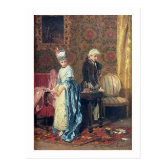 The Lovers' Tiff, 1872 (oil on panel) Postcard