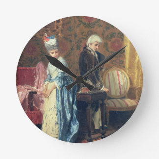 The Lovers' Tiff, 1872 (oil on panel) Round Clock