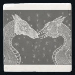 "The Lovers ( Two Dragons ) Coster Stone Coaster<br><div class=""desc"">These two will warm your hart and add fantasy and love to you home decor .</div>"