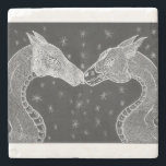 """The Lovers ( Two Dragons ) Coster Stone Coaster<br><div class=""""desc"""">These two will warm your hart and add fantasy and love to you home decor .</div>"""