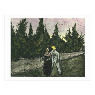 The Lovers Van Gogh Fine Art Postcard