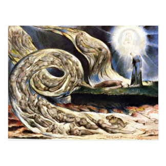 The Lovers' Whirlwind, William Blake Postcard