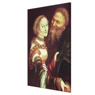 The Lovesick Old Man, 1553 (oil on panel) Canvas Print