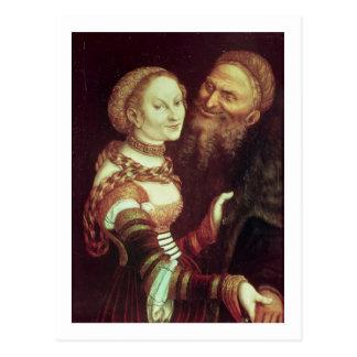 The Lovesick Old Man, 1553 (oil on panel) Postcard
