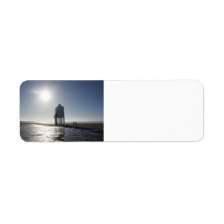 The Low Lighthouse, Burnham on Sea, Somerset, UK Return Address Label