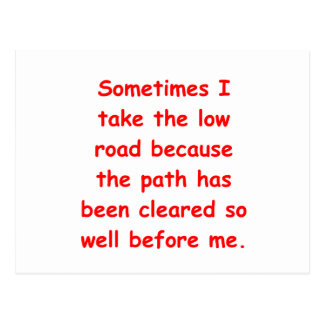 the low road postcard