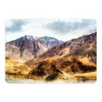The lower hills of the might Himalayas Card