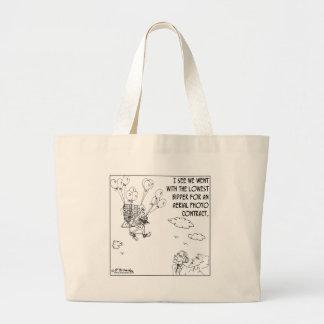 The Lowest Bidder Large Tote Bag