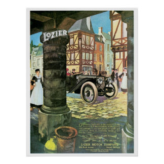 The Lozier Classic Car Poster