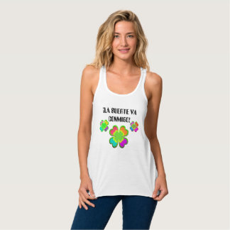 The luck goes with me tank top