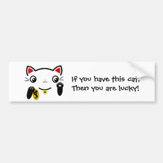 The lucky cat bumper stickers